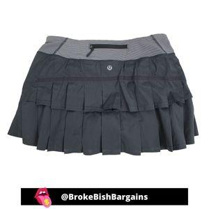 Lululemon Pace Setter Tennis Skirt Gray 6